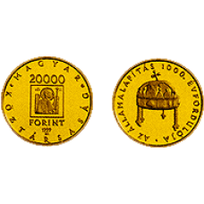 1999 Az államalapítás 1000. évfordulója - Aranyérme szett